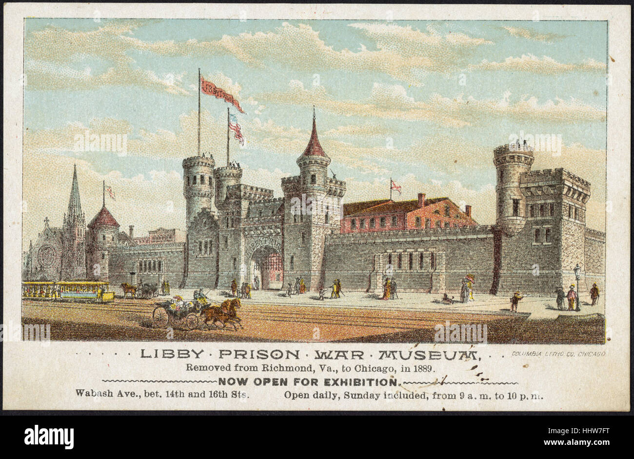 Libby Prison War Museum removed from Richmond, Va. to Chicago, in 1889. [front]  - Leisure, Reading, and Travel - Stock Image