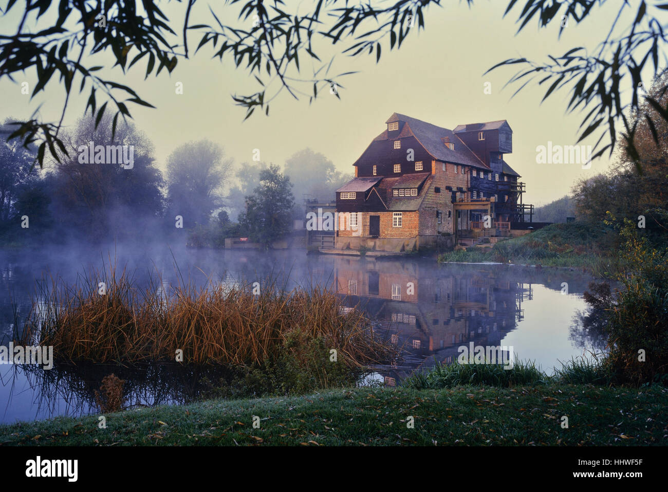 Houghton Mill. Huntingdon. Cambridgeshire. England. UK - Stock Image