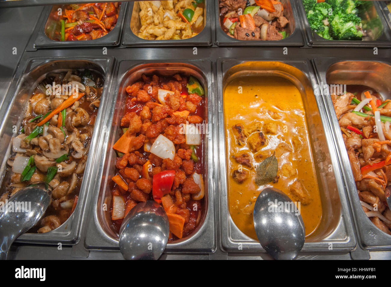 A Selection Of Chinese Restaurant Food Dishes Uk Stock Photo Alamy