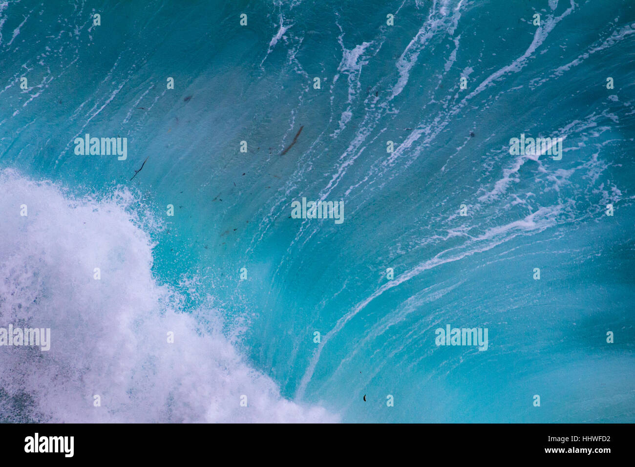 Aerial view of crashing waves at Cape Point, South Africa - Stock Image
