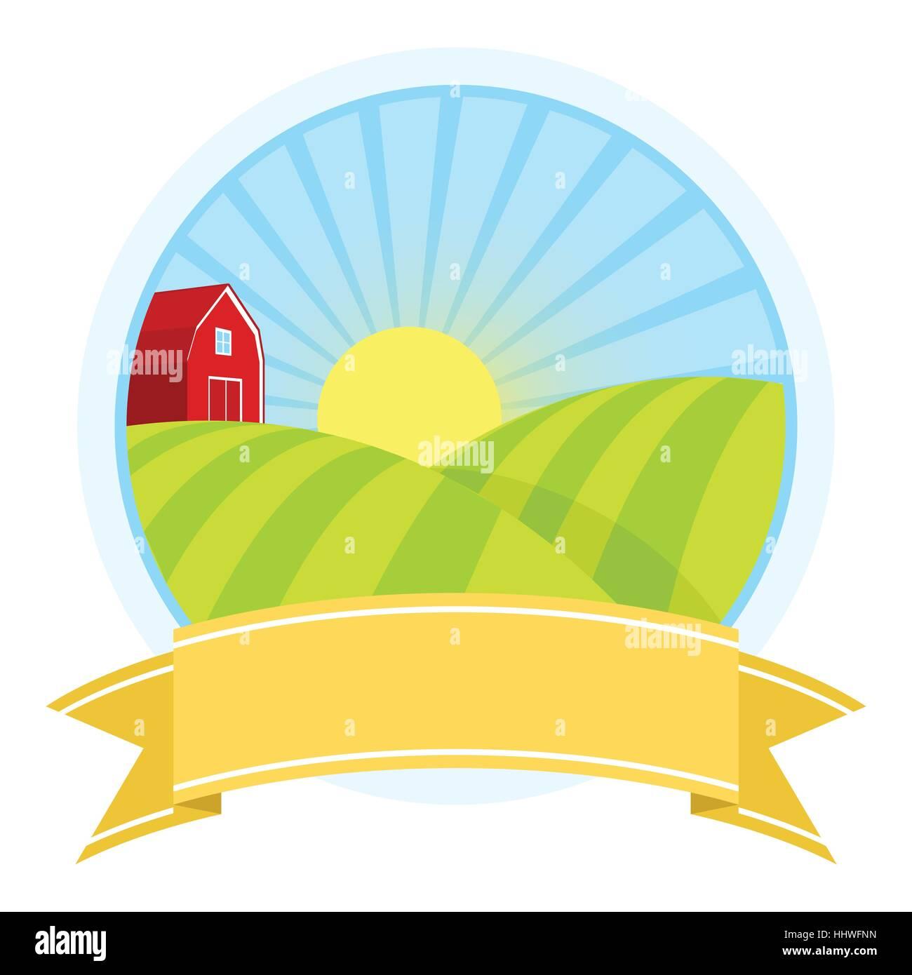 farm company logo template vector illustration design Stock Vector ...