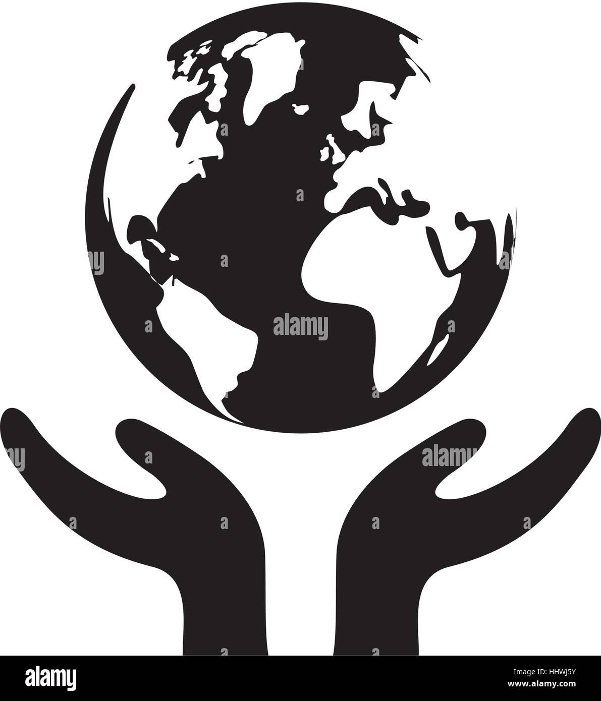 Save The World Icon Vector Illustration Graphic Design Stock Vector