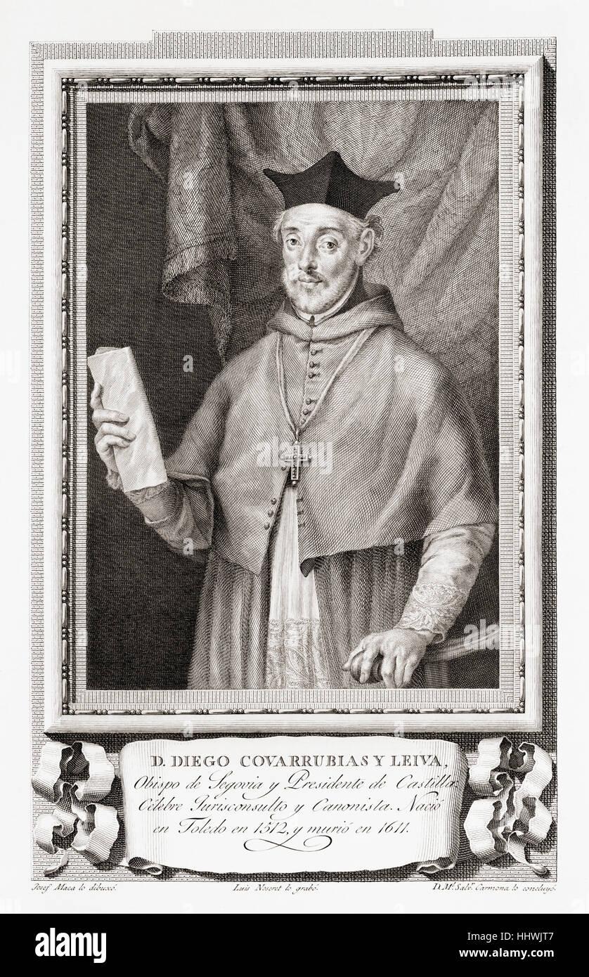 Diego de Covarrubias y Leyva or Covarruvias,1512 – 1577.  Spanish jurist and Roman Catholic prelate who served as - Stock Image