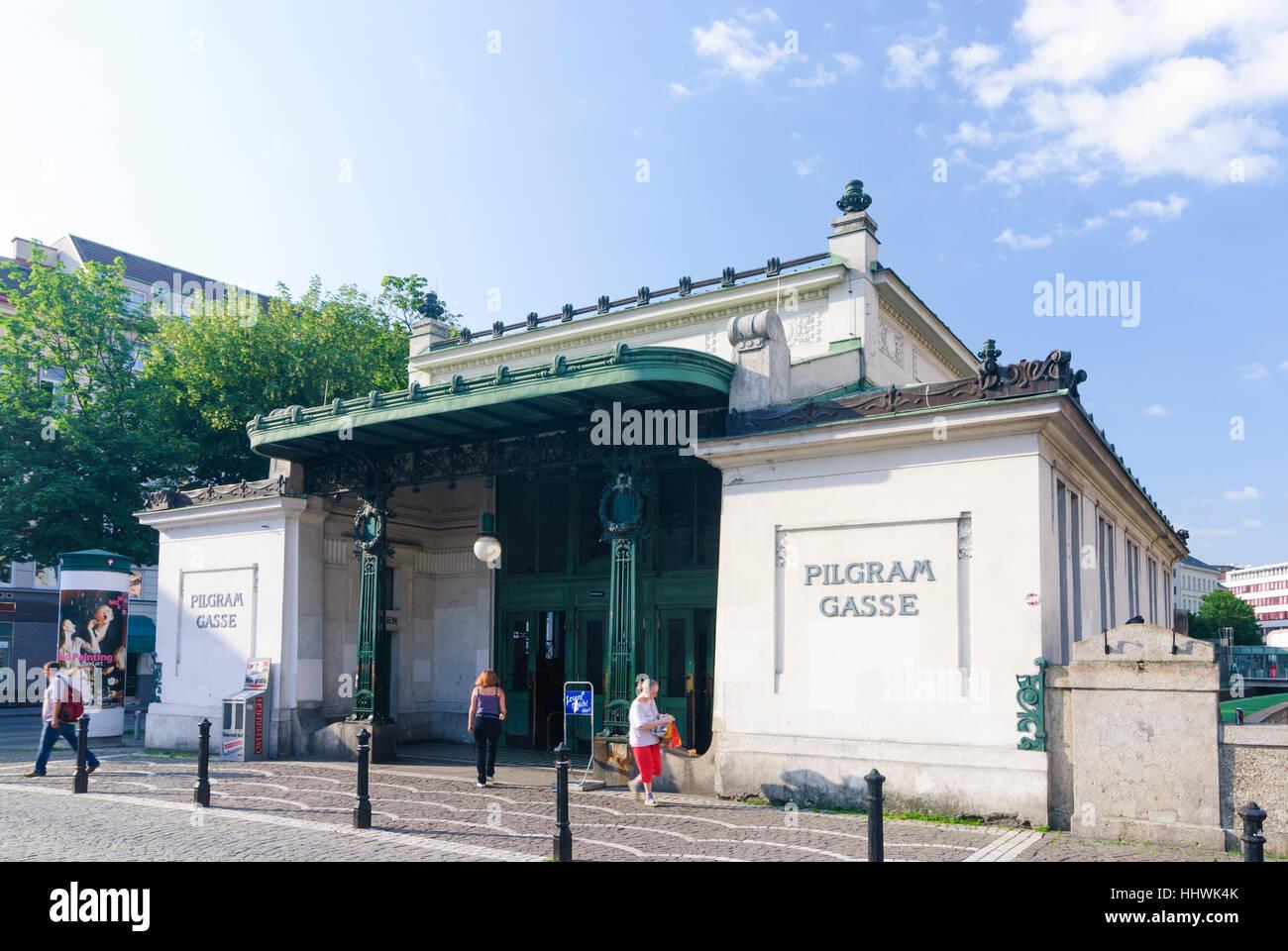 Wien, Vienna: subway station Pilgramgasse, 05., Wien, Austria - Stock Image