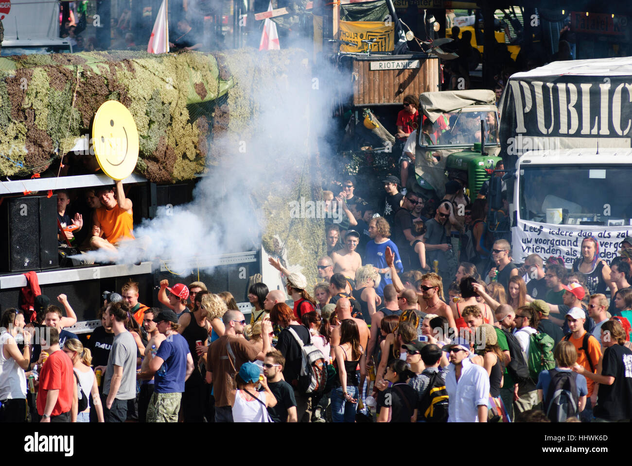 Wien, Vienna: Globalization-critical Free Parade at the city center on the ring, 01. Old Town, Wien, Austria - Stock Image