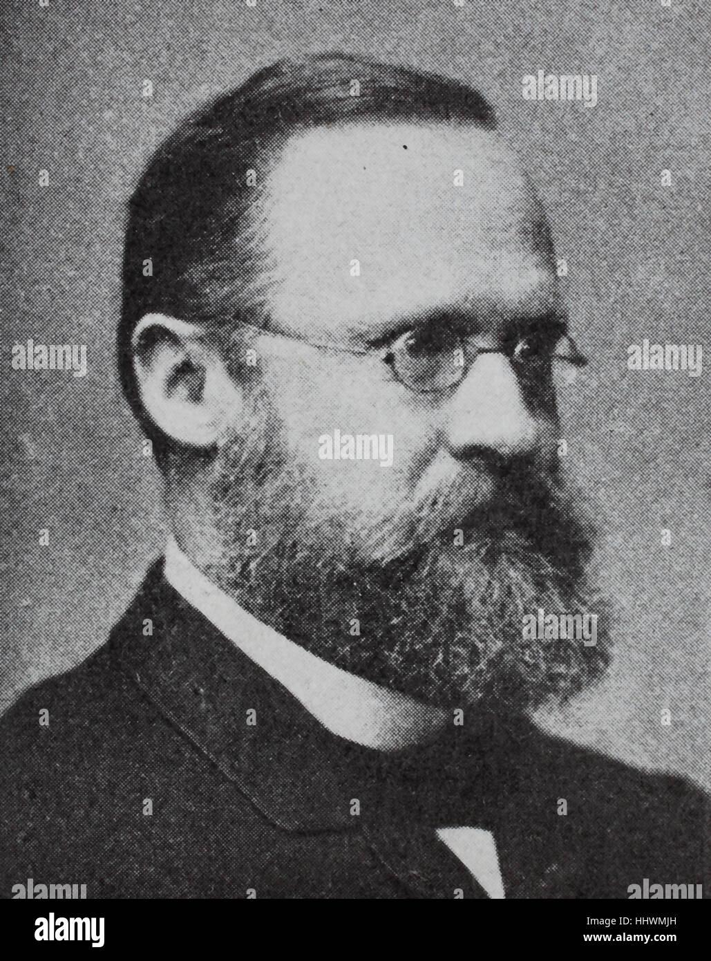 Wilhelm Heinrich Erb, 1840 - 1921, German neurologist, historical image or illustration, published 1890, digital - Stock Image