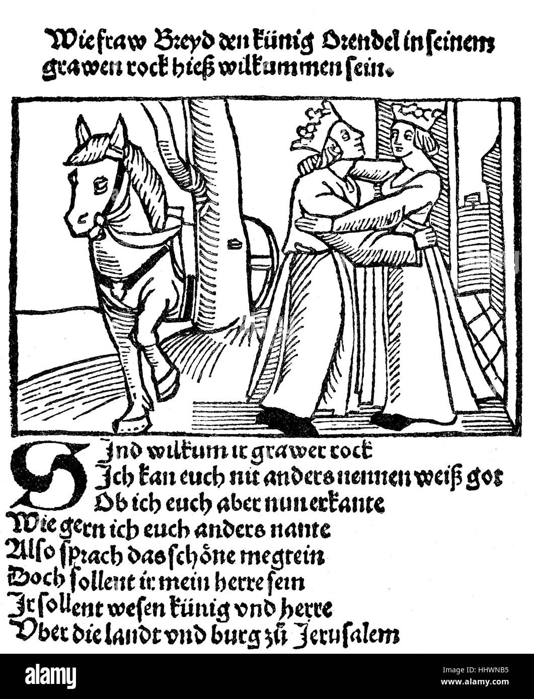 Orendel is a Middle High German poem, a Spielmannsdichtung, traditionally dated to the end of the 12th century, - Stock Image