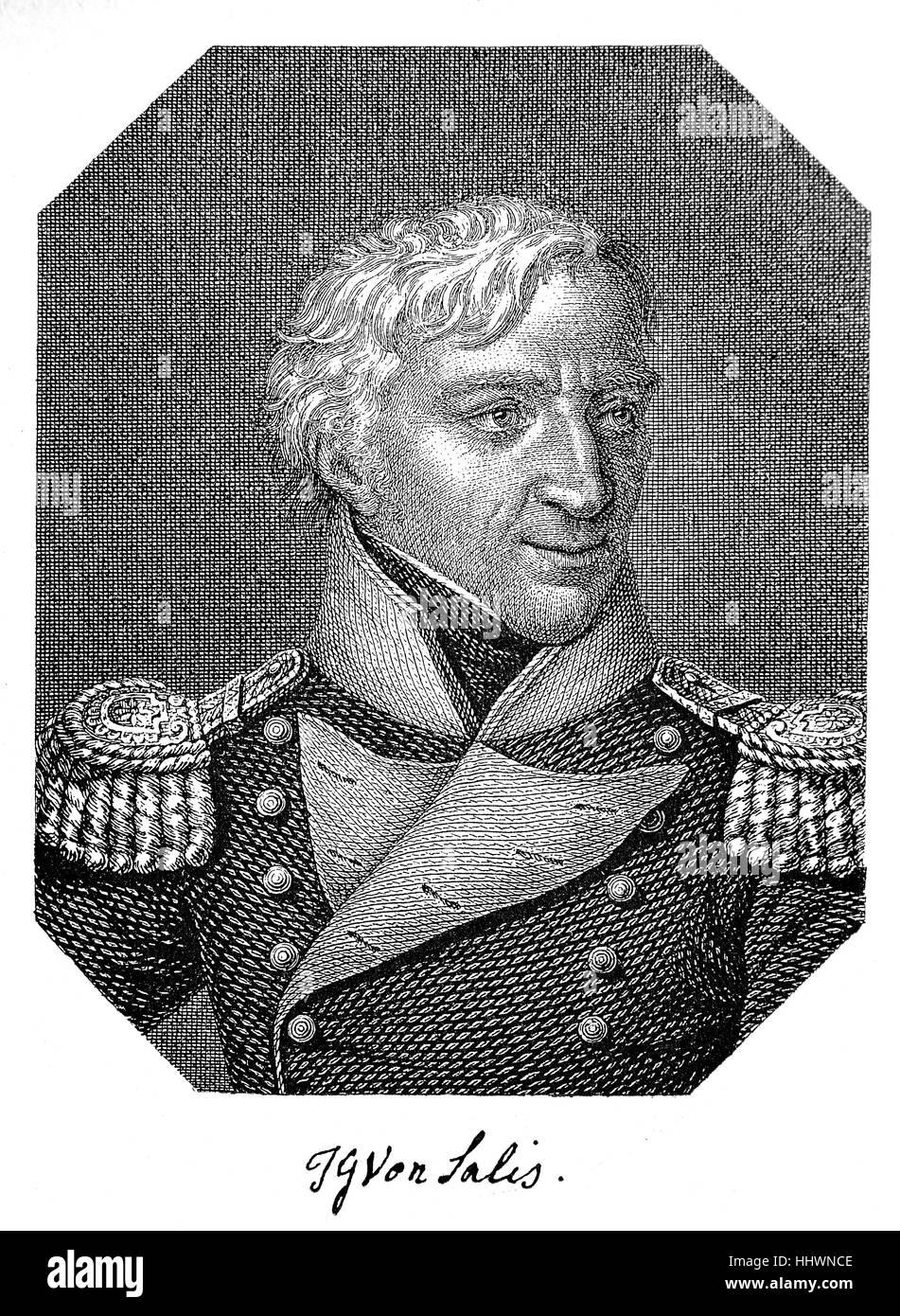 Johann Gaudenz Gubert Graf und Freiherr von Salis-Seewis, born December 26, 1762, Malans; died January 29, 1834, - Stock Image