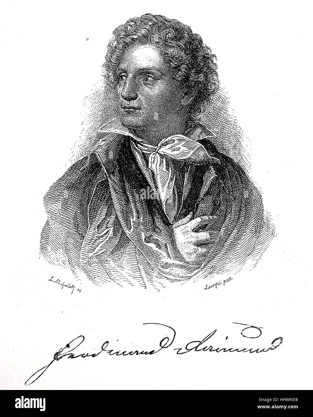 Ferdinand Raimund, born Ferdinand Jakob Raimann; 1 June 1790 - 5 September 1836, was an Austrian actor and dramatist', - Stock Image