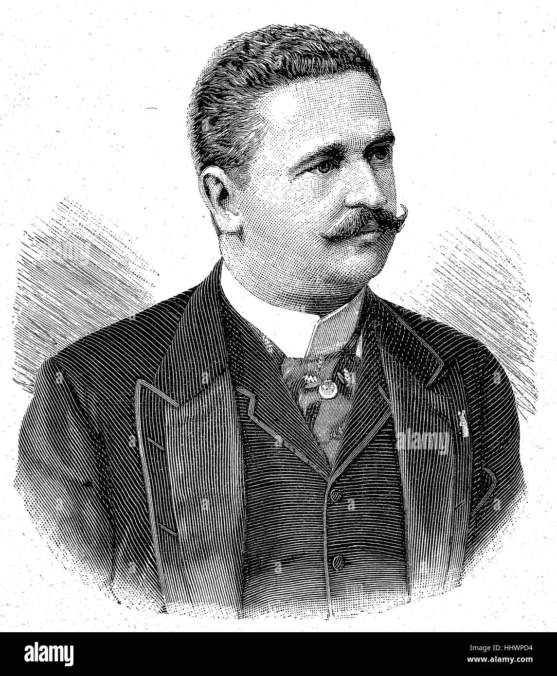 Konstantin Stoilov, 23 September 1853 O.S. - 23 March 1901 O.S., was a leading Bulgarian politician and twice Prime - Stock Image
