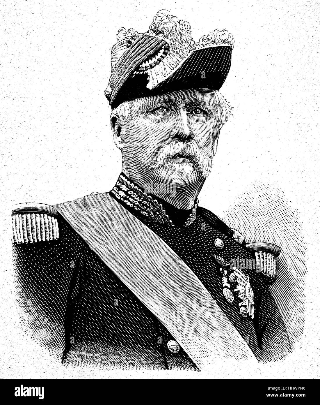 Marshal Marie Esme Patrice Maurice, Count de MacMahon, Duke of Magenta, 13 June 1808 - 17 October 1893, was a French - Stock Image