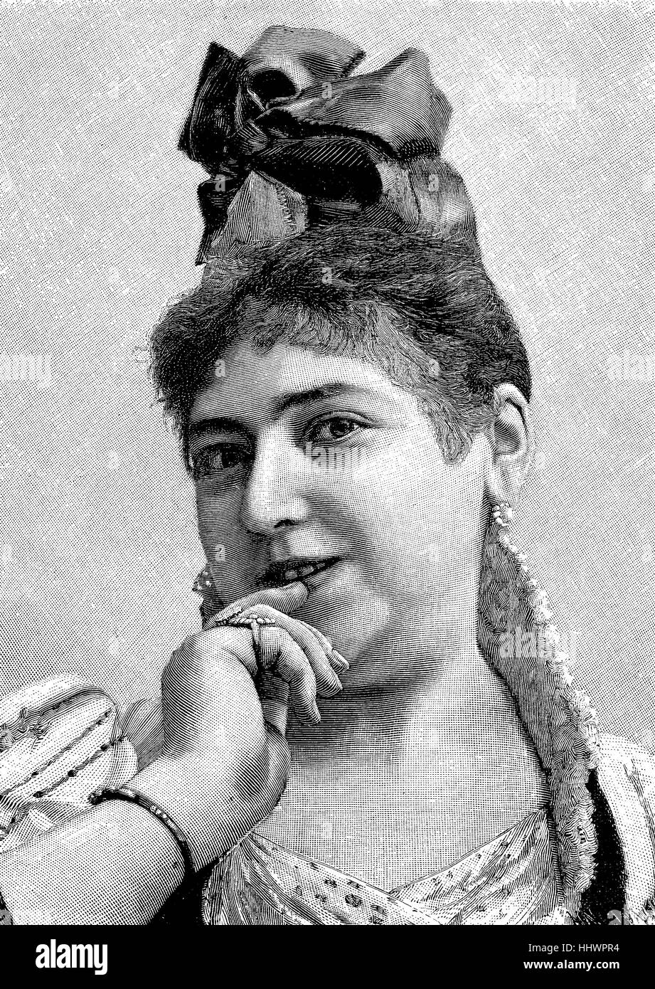 Lola Beeth, 23rd November 1864 in Krakow - March 18, 1940 in Berlin, was an Austrian opera singer, soprano, and - Stock Image