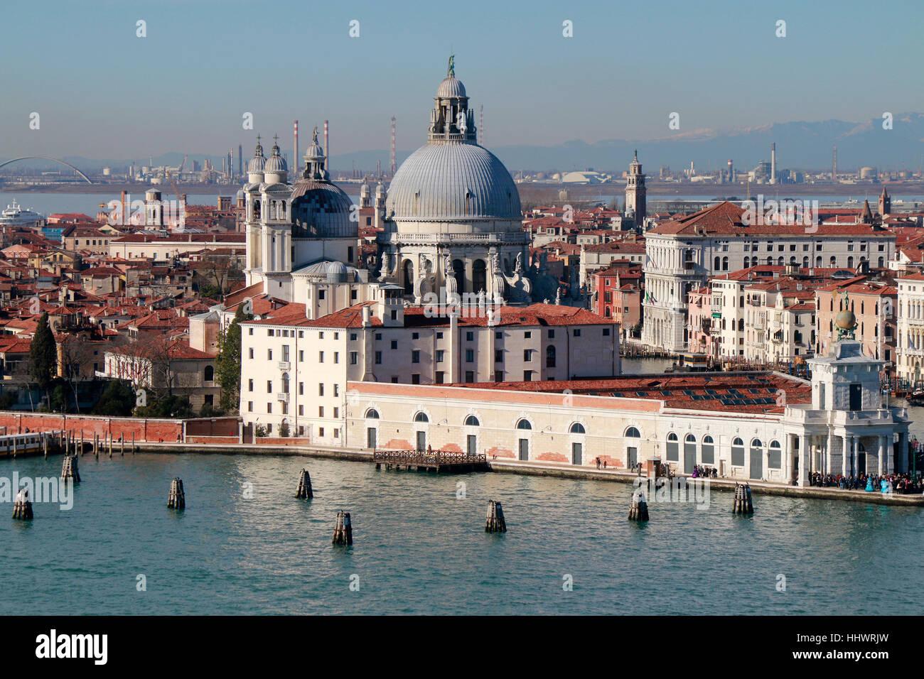 Luftbild, Venedig, Italien. - Stock Image