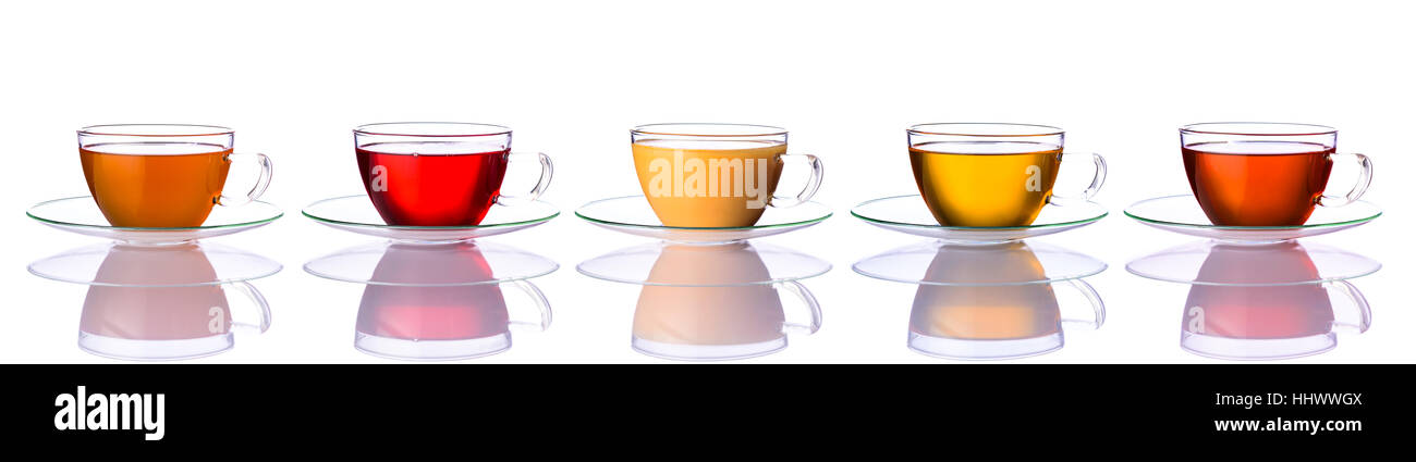 Five Different Types Tea On Stock Photos Five Different Types Tea