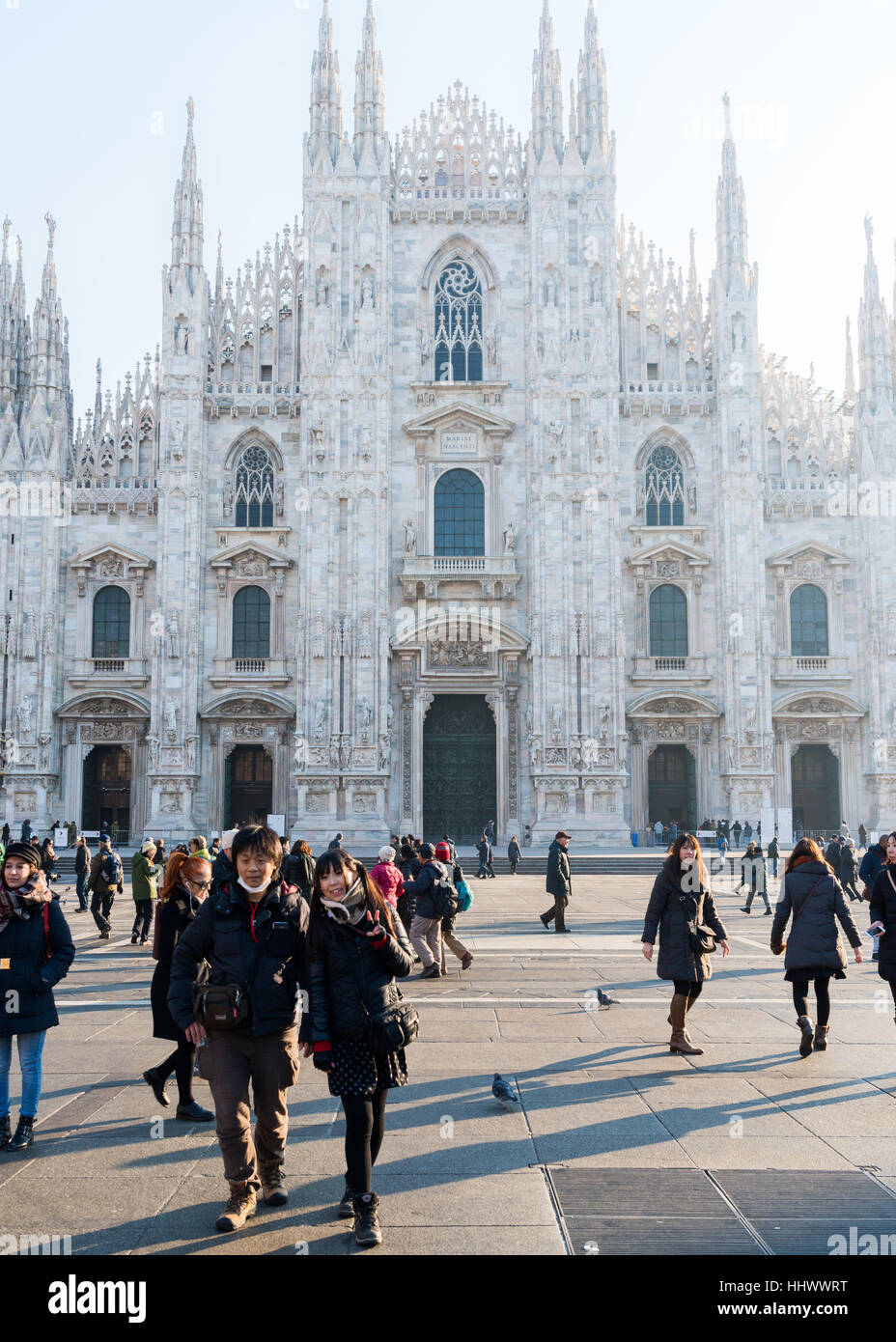 Milan Cathedral / Duomo, Lombardy, Italy, a popular destination for Asian tourists - Stock Image