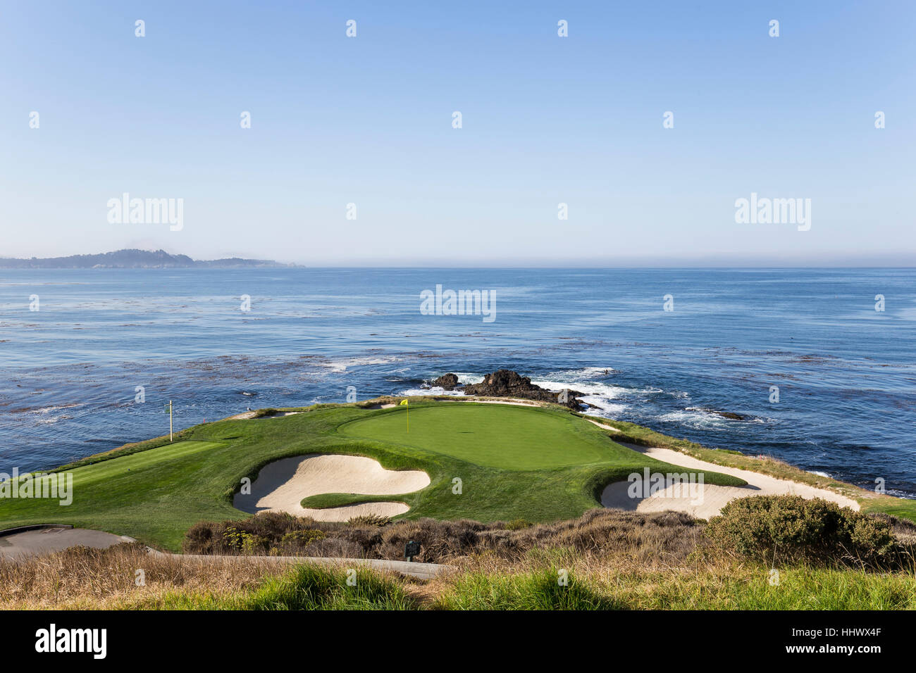 A view of Pebble Beach golf  course, Monterey, California, USA - Stock Image
