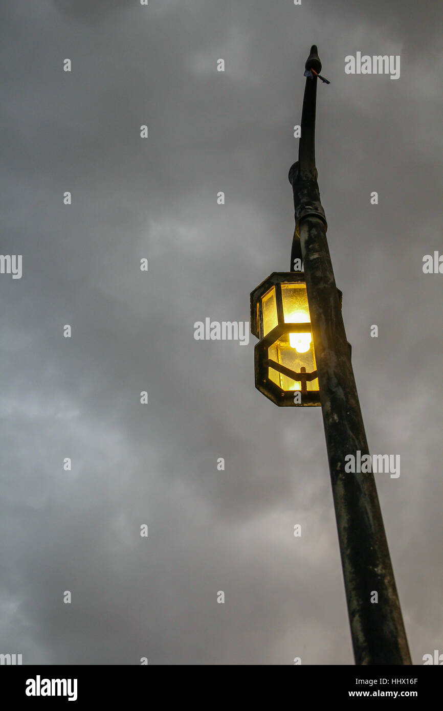 Retro vintage style street lamp - Stock Image
