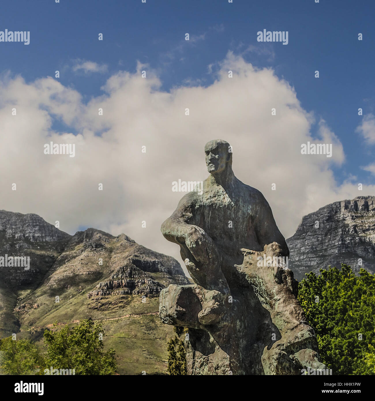 monument, art, statue, sculpture, south africa, mountain, cape town, monument, - Stock Image