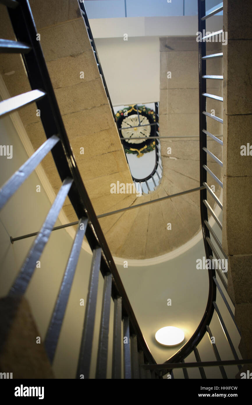 Inside staircase - Stock Image