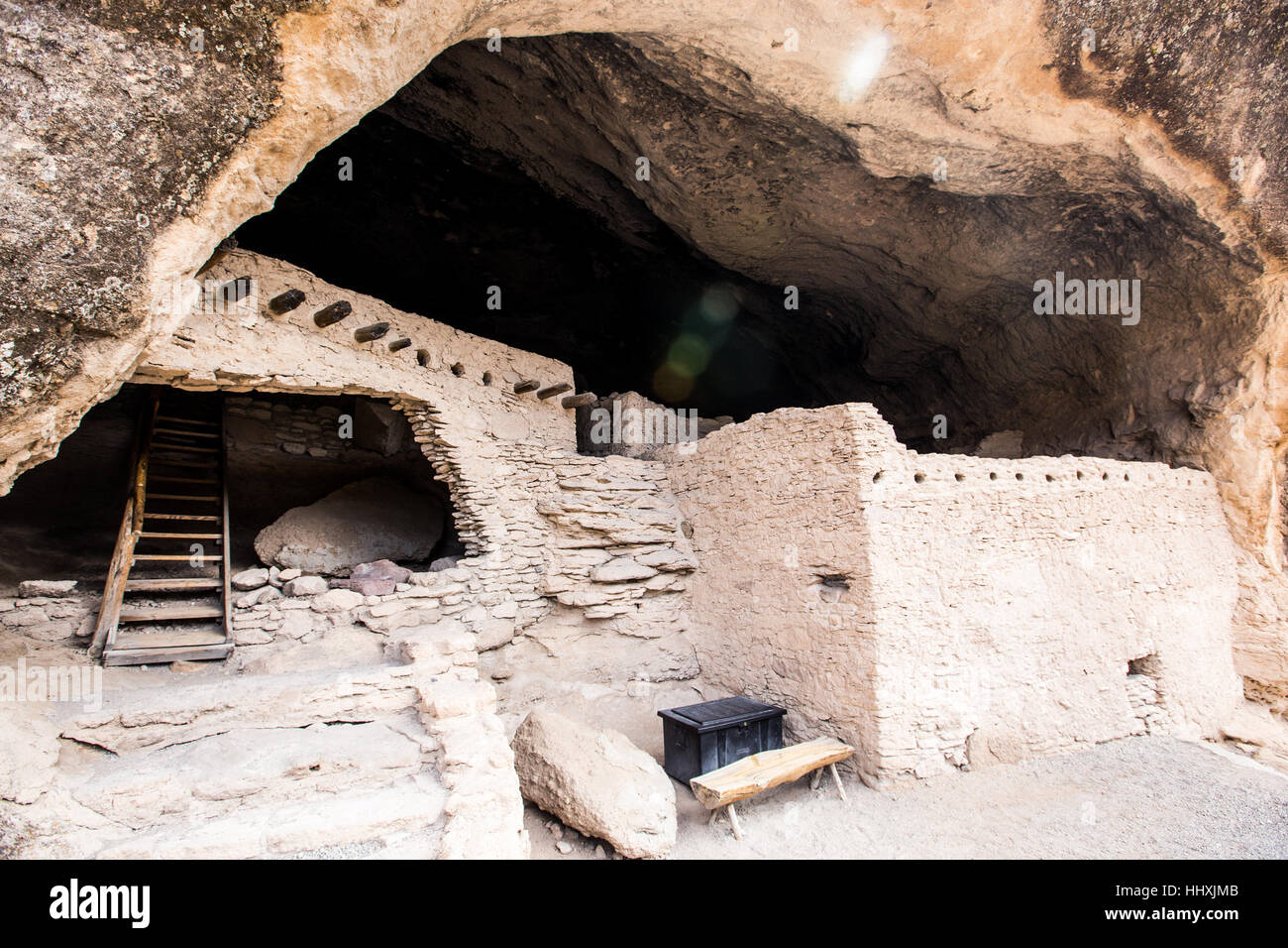 Gila Cliff Dwellings National Monument - Stock Image