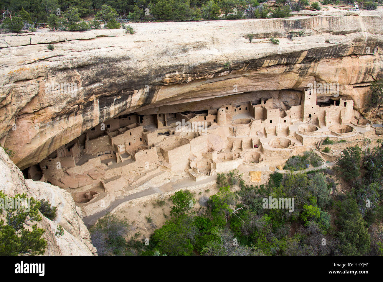Balcony House cliff dwelling, Mesa Verde National Park, New Mexico, USA - Stock Image