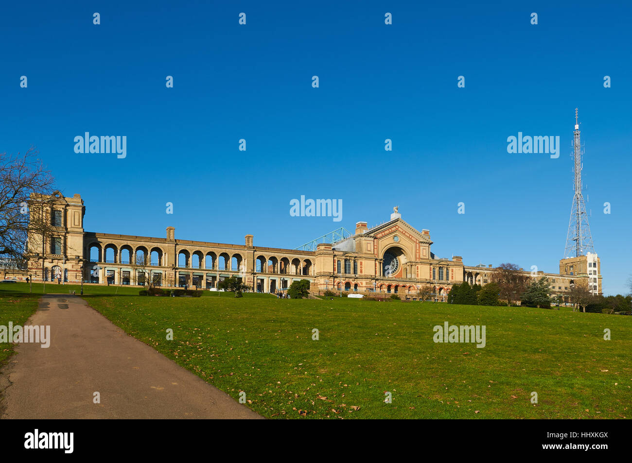 Alexandra Palace in Alexandra Park, North London UK - Stock Image