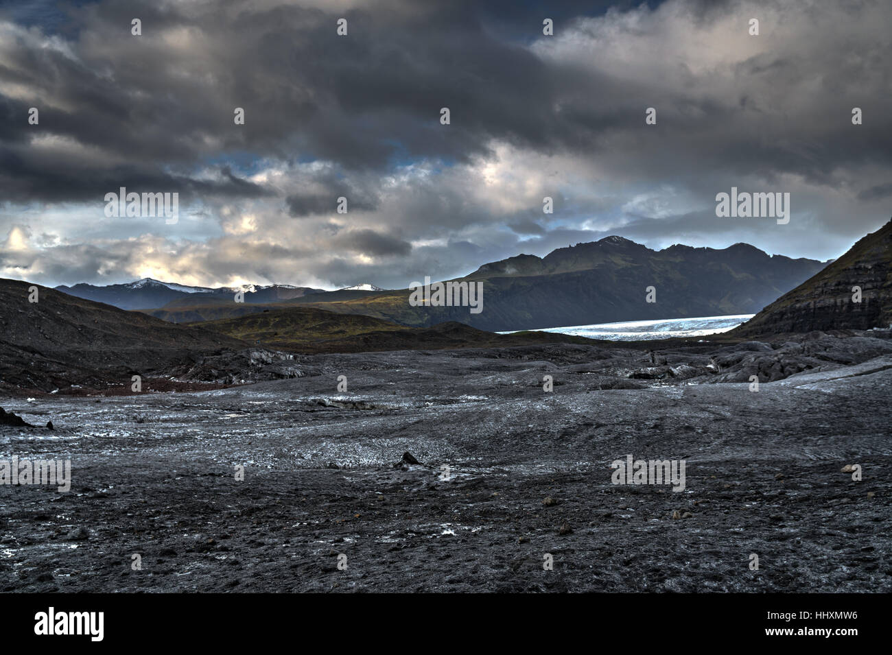 Glacier mountains iceland - Stock Image