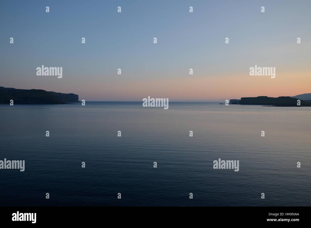 Loch Bracadale at Sunset. Stock Photo