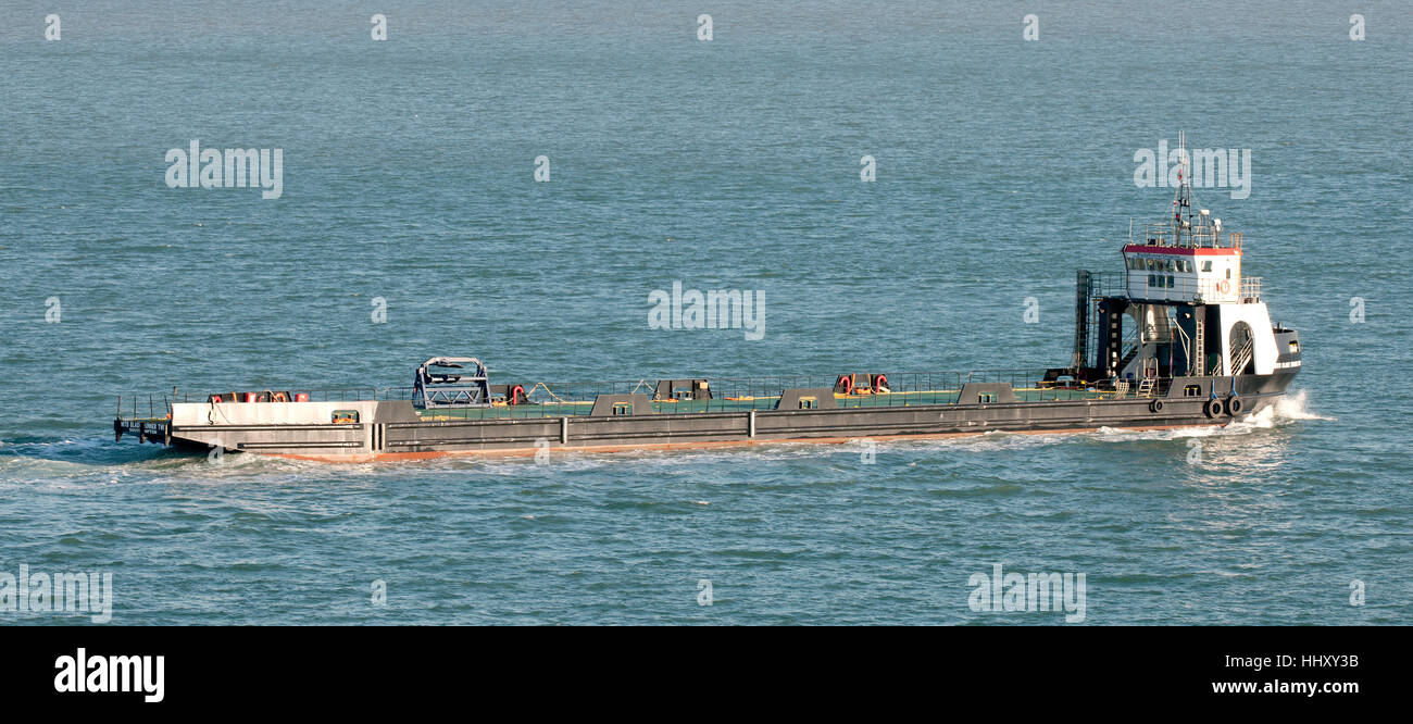 MTB Blade Runner Two barge on Southampton Water, Southampton, Hampshire, England, UK. - Stock Image