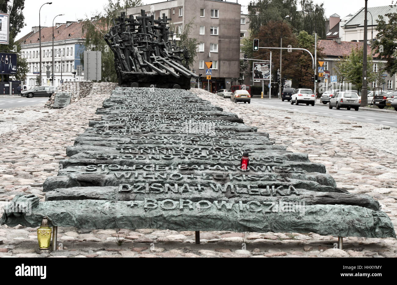 WARSAW, POLAND - SEPTEMBER 1, 2012: Memorial to the victims of  the Soviets - Monument for the Fallen and Murdered Stock Photo