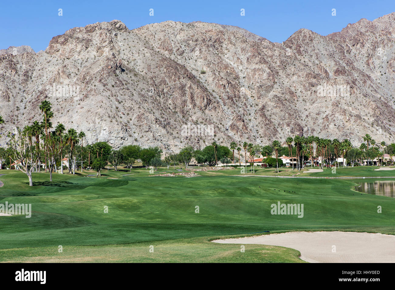 Pga West golf course in La Quinta, Palm Springs, California, usa - Stock Image
