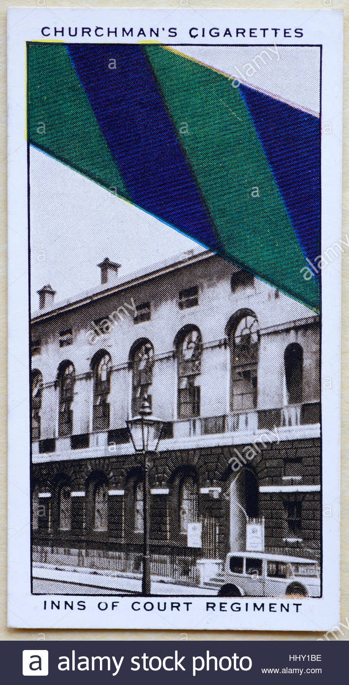 Inns of Court Regiment tie - Stock Image