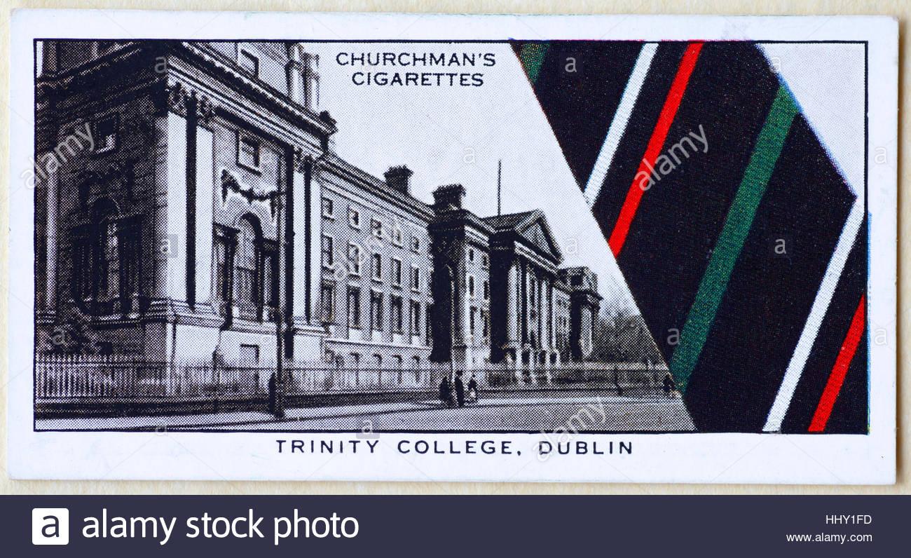 Trinity College Dublin School tie - Stock Image