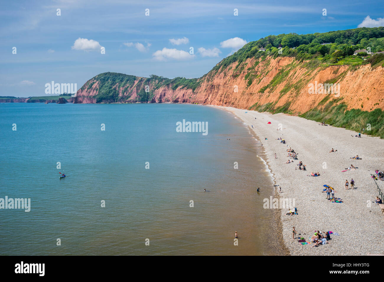 Great Britain, South West England, East Devon, Sidmouth, Jurassic Coast at the Peak Hill cliff face west of Sidmouth - Stock Image