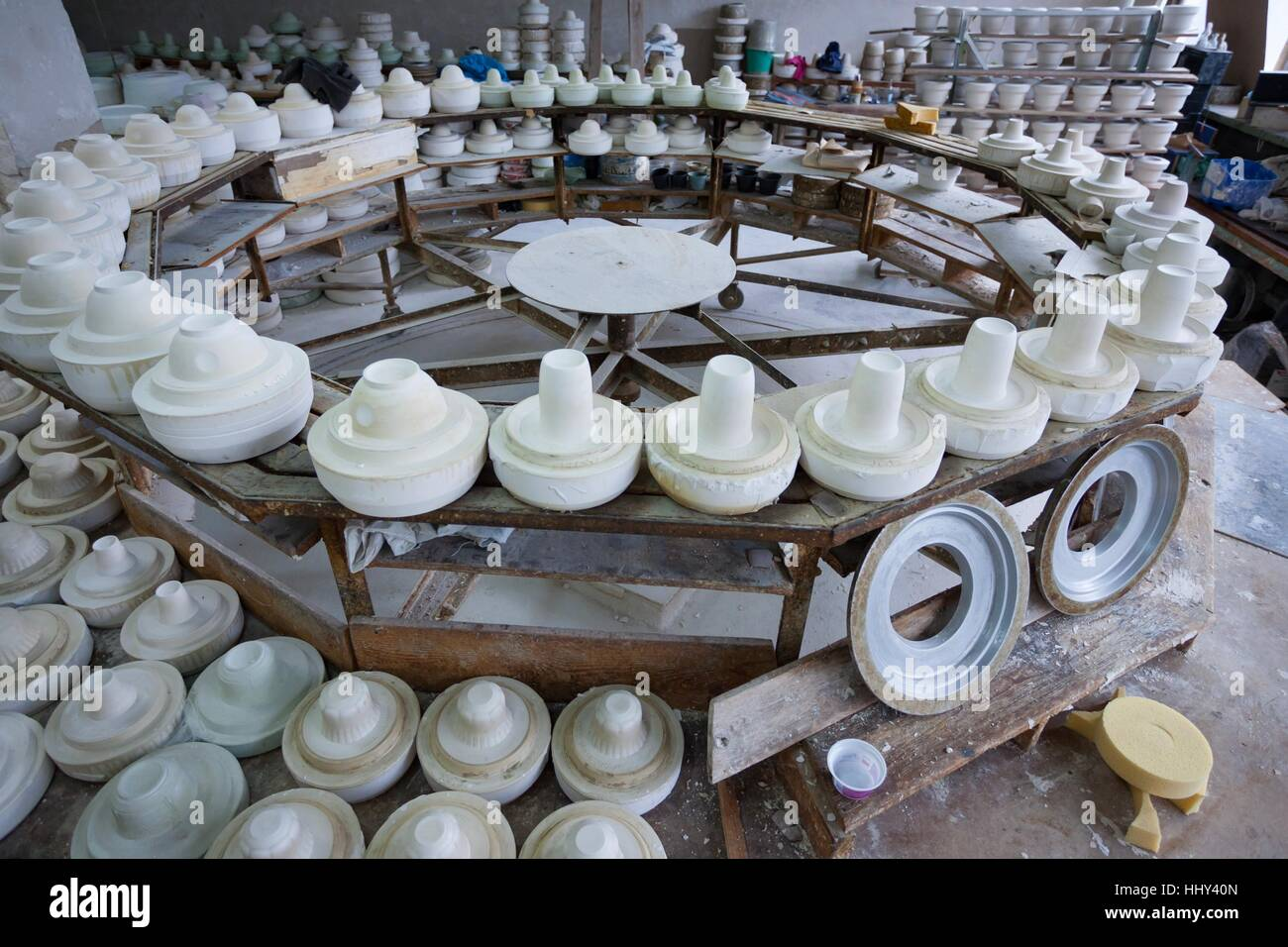 Chodziez, Poland - March 19, 2012 The factory produces porcelain. Stock Photo