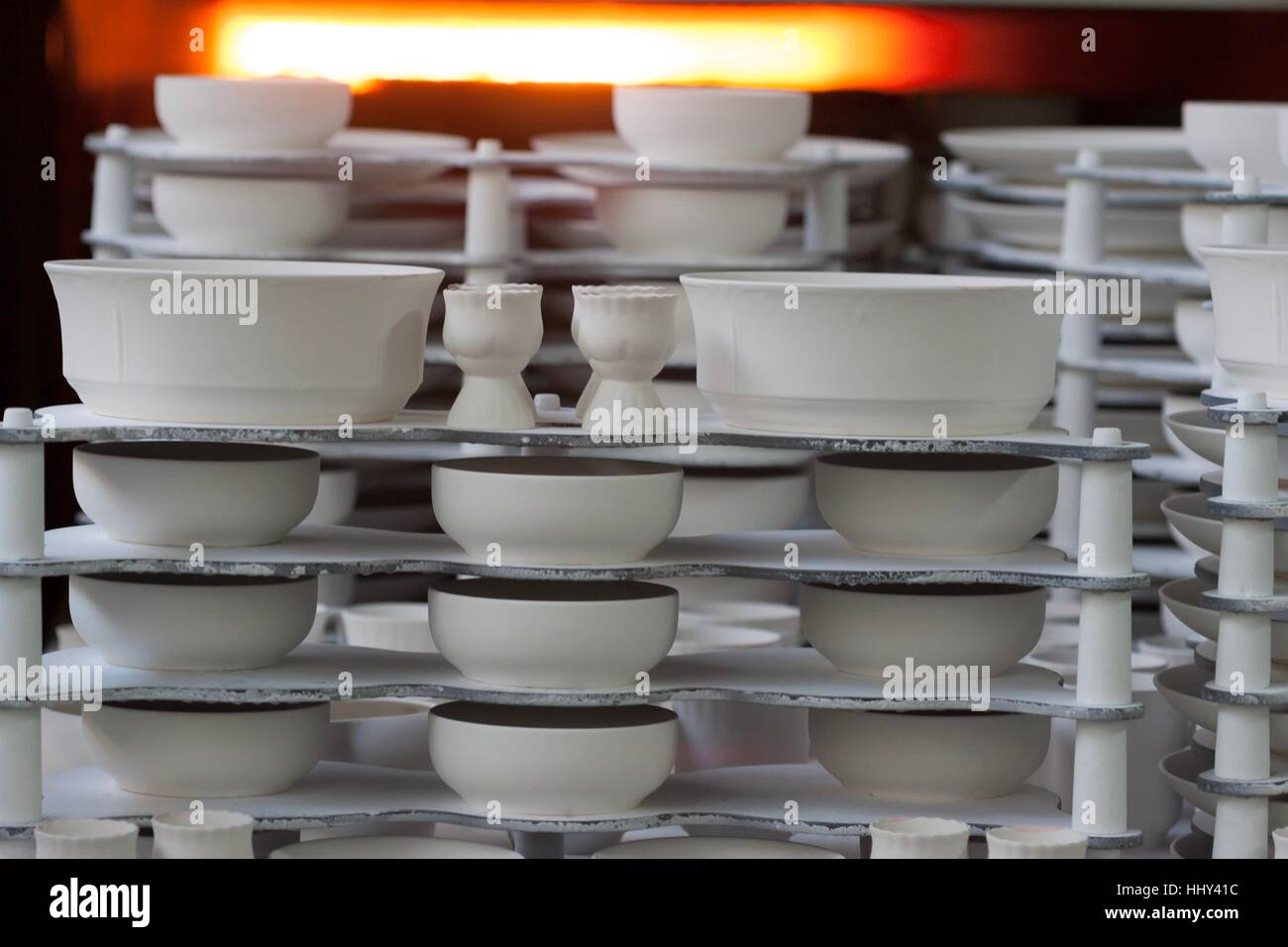 Chodziez, Poland - March 19, 2012 The factory produces porcelain. - Stock Image