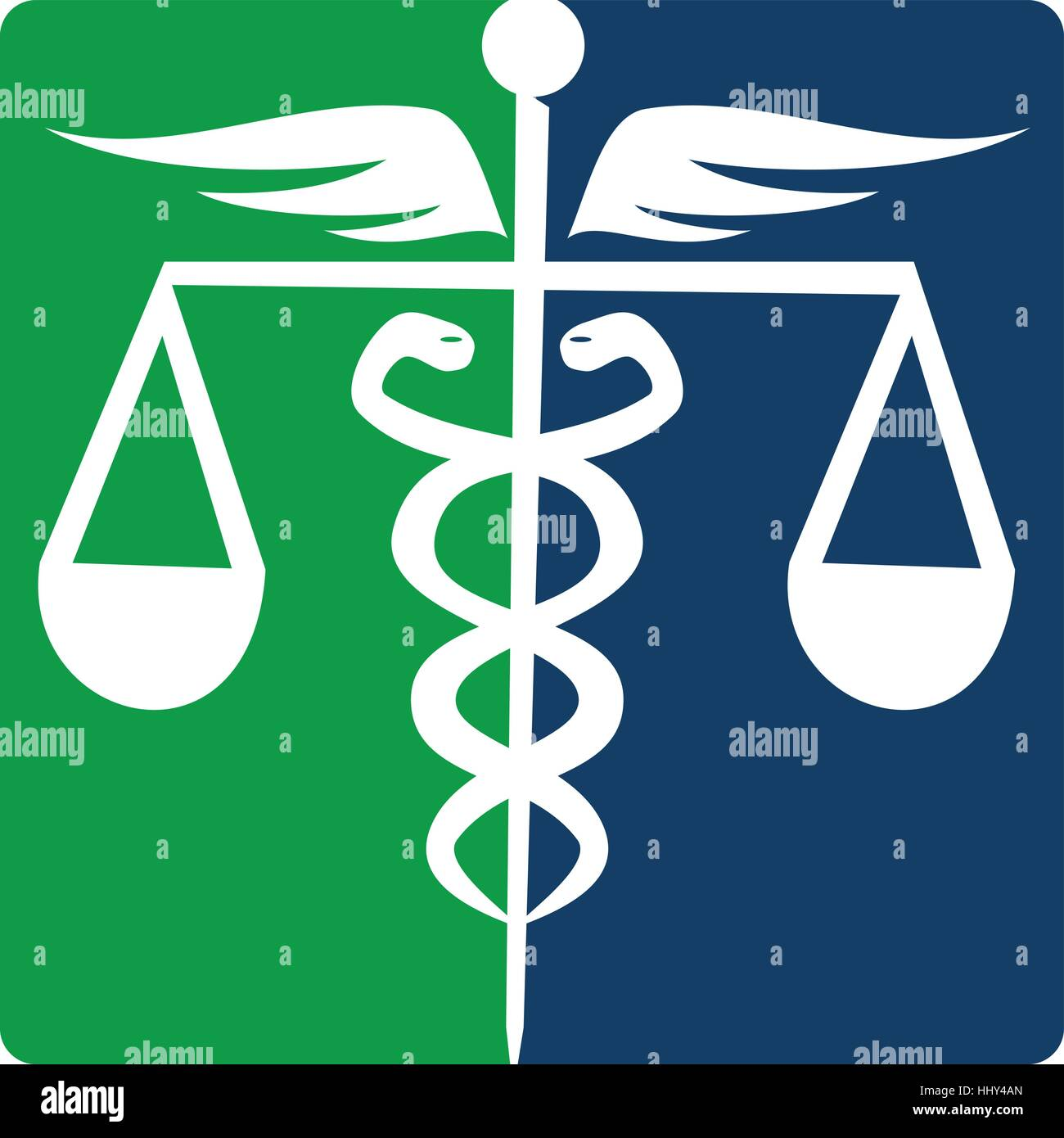 Caduceus Health Balance - Stock Image