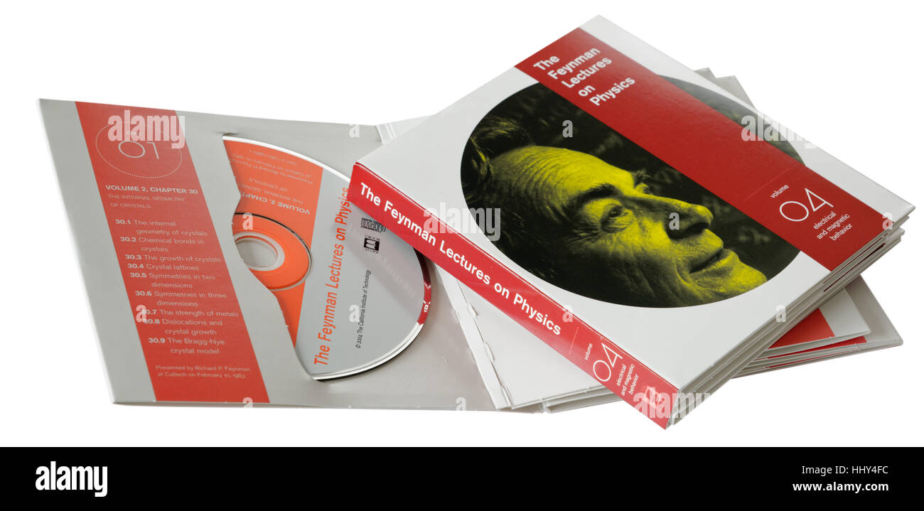 The Richard Feynman Lectures on Physics CD - Stock Image