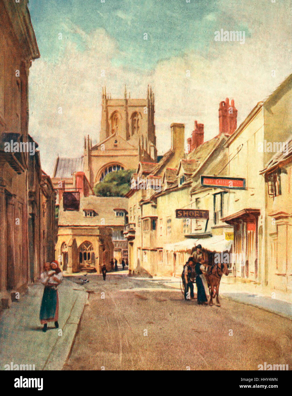 Long Street, Sherborne - The Sherton Abbas of the Wessex Novels - Stock Image