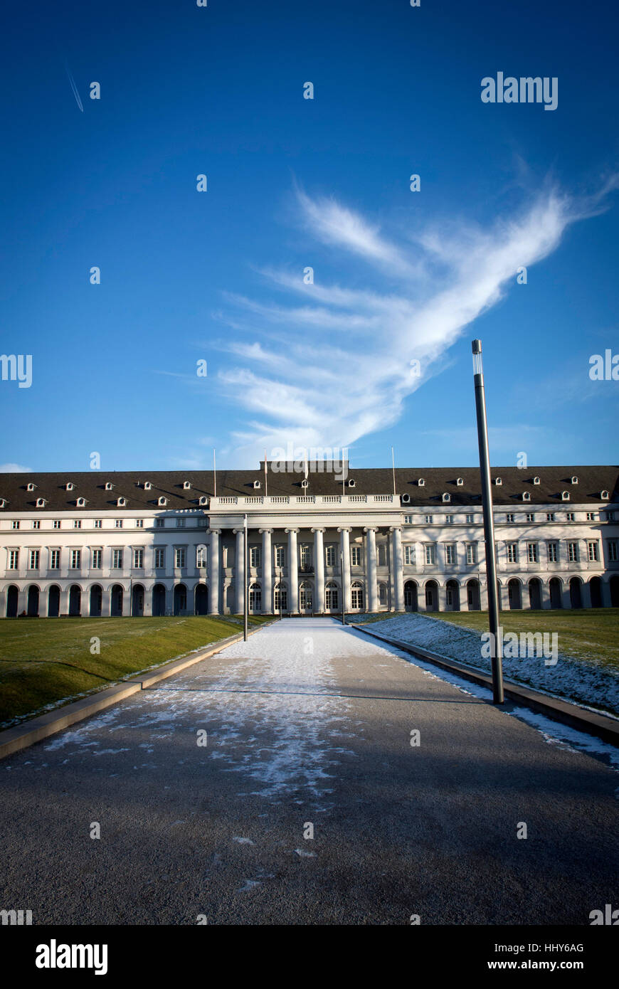 The main West facade of the Electoral Palace in Koblenz, Germany Stock Photo