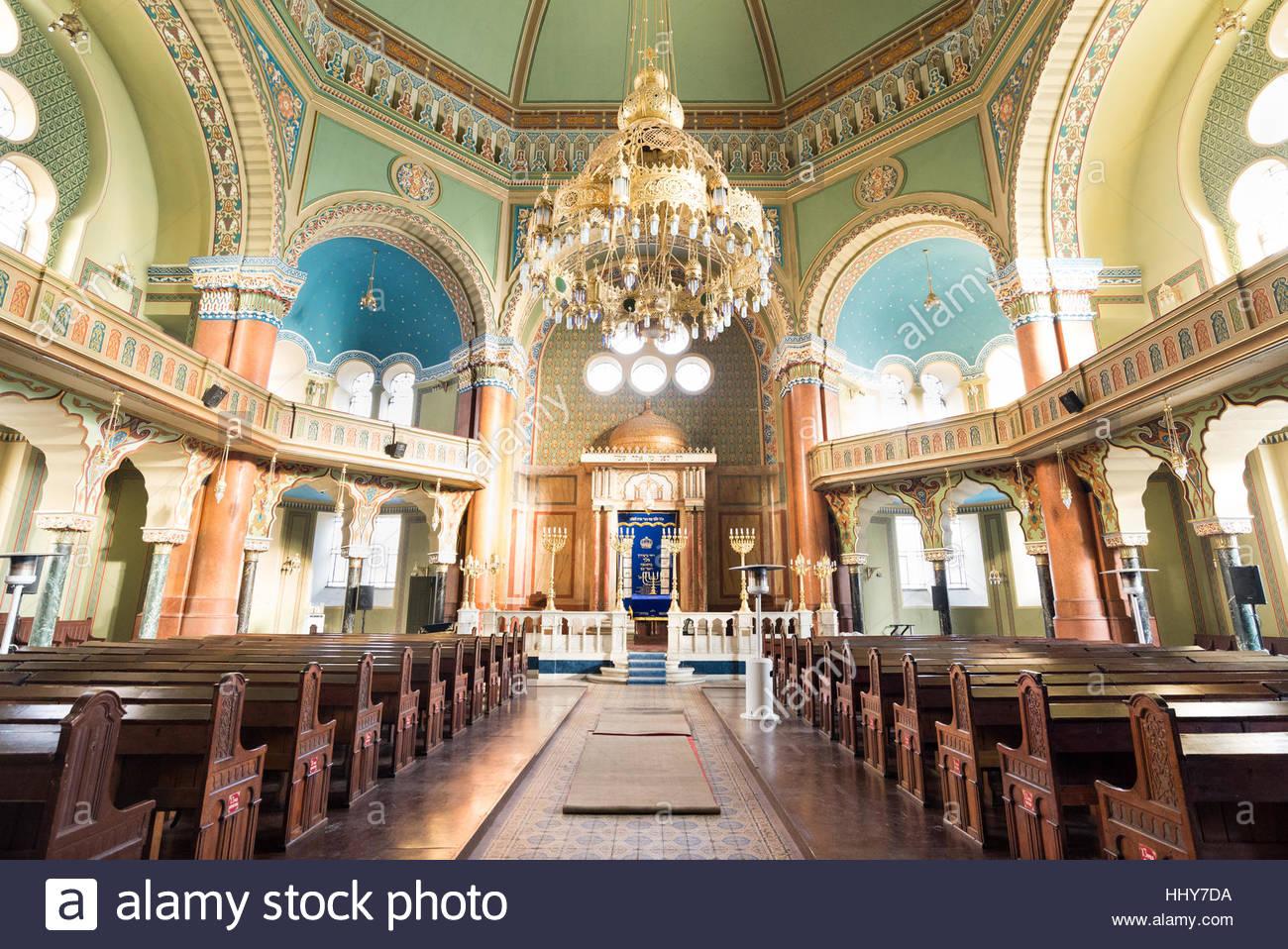Interior of Sofia Synagogue, Bulgaria Stock Photo