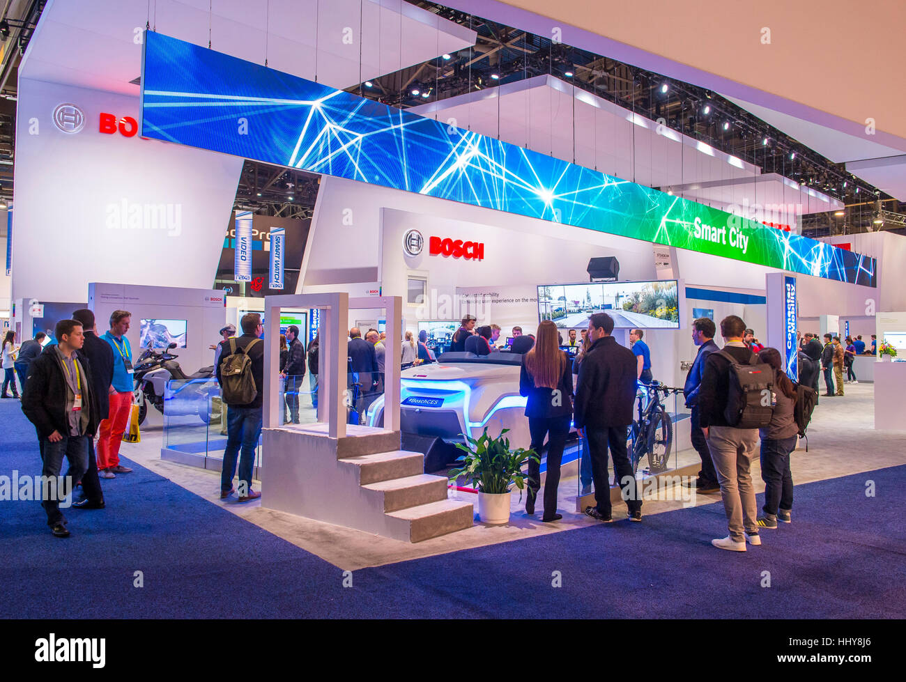 las vegas jan 08 the bosch booth at the ces show in las vegas on stock photo 131521214 alamy. Black Bedroom Furniture Sets. Home Design Ideas