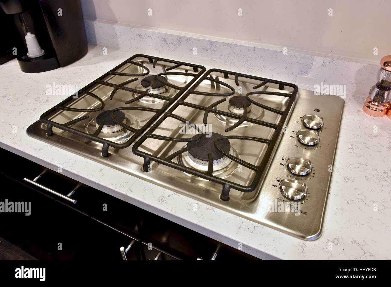 A stove top in a modern kitchen Stock Photo: 131525783 - Alamy
