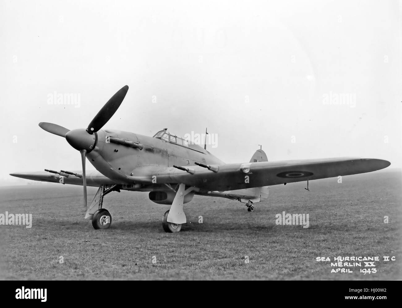SEA HURRICANE Mk IIc with Rolls Royce Merlin XV engine in April 1943. Air Ministry photo. - Stock Image