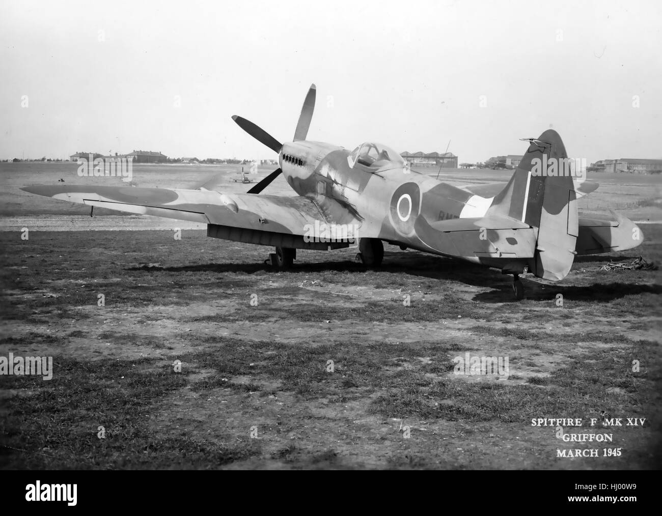 SPITFIRE F Mk XIV in March 1945. Air Ministry photo. - Stock Image
