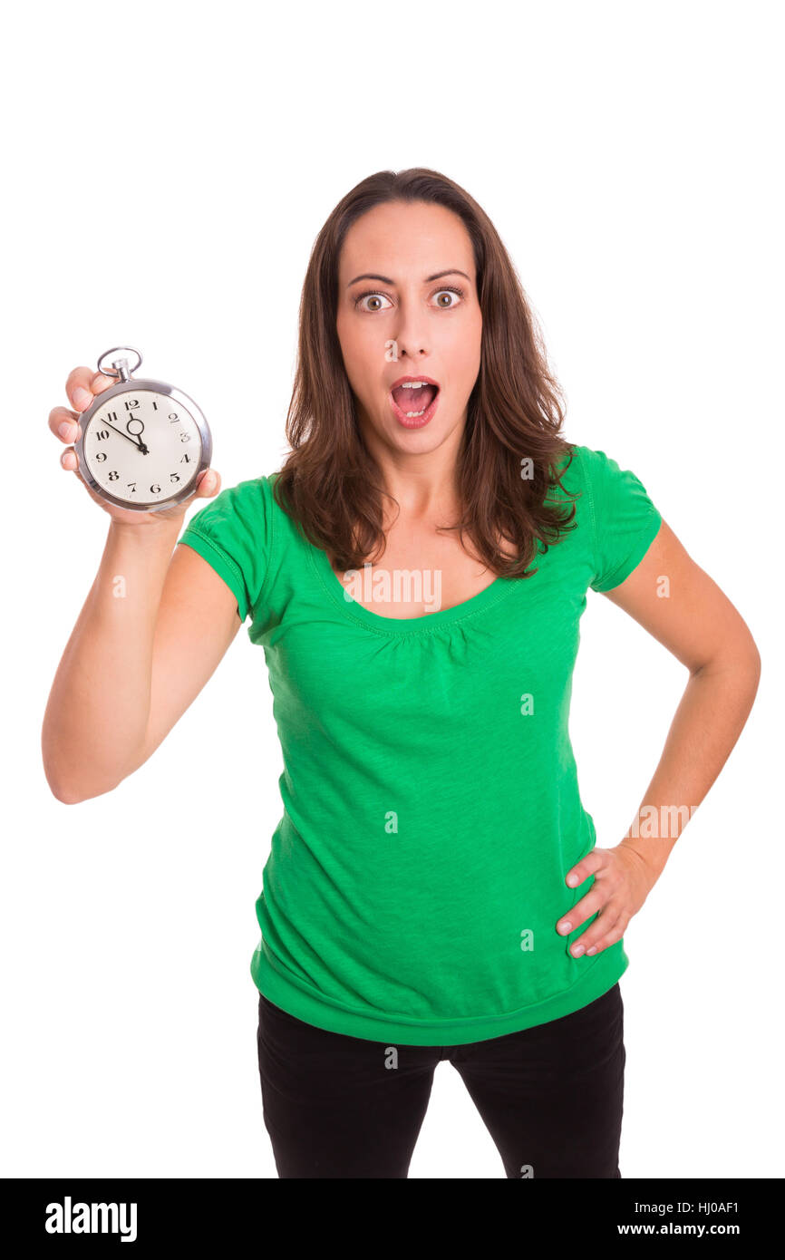 time, delivery, offer, punctual, date, woman, lateness, deadline, respite, Stock Photo