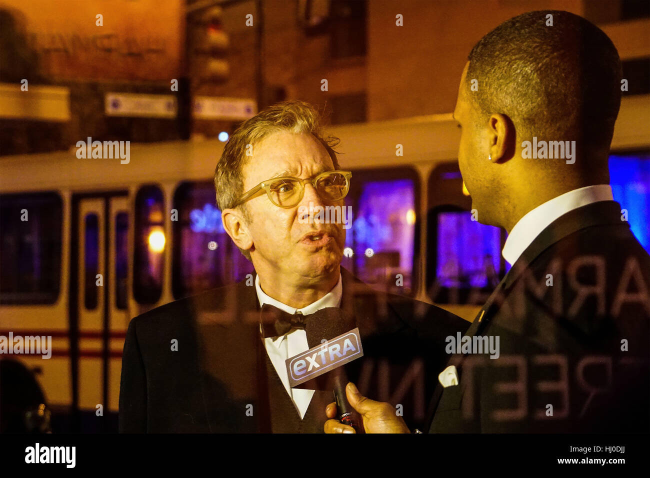 Washington DC, USA. 20th Jan, 2017. Actor Tim Allen speaks to a reporter at The Creative Coalition Inaugural Ball - Stock Image