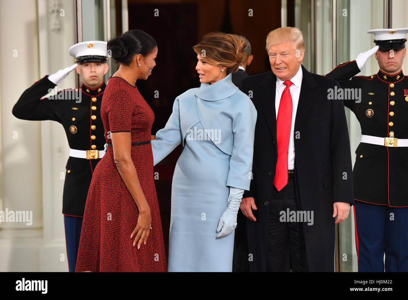 Trump Obama Melania Michelle Stock Photos Trump Obama Melania