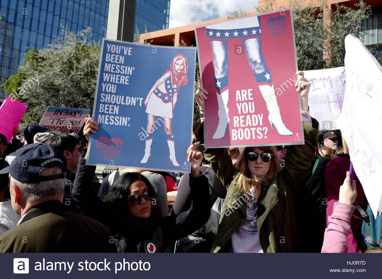 Los Angeles, USA  21st Jan, 2017  Women's March Los Angeles
