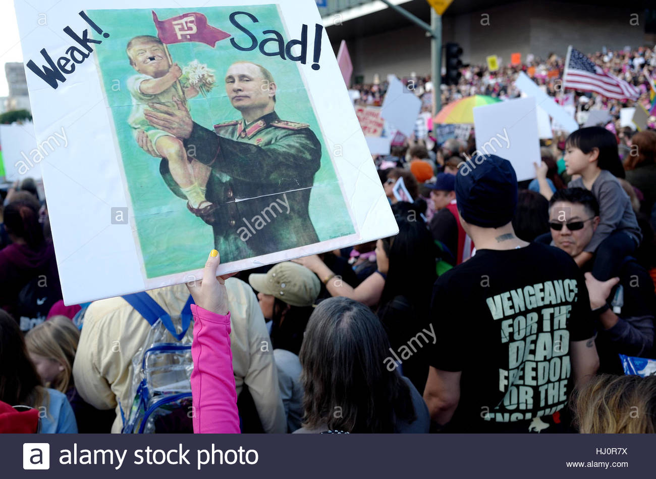 Los Angeles, USA. 21st Jan, 2017. Women's March Los Angeles, a national movement to unify and empower everyone - Stock Image